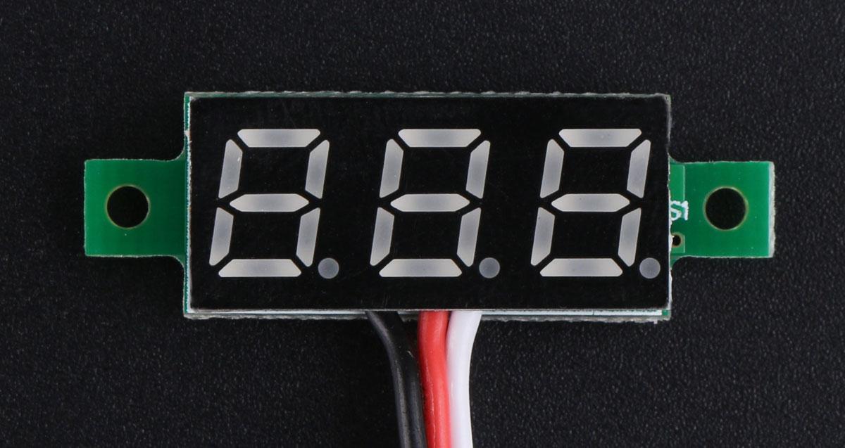 """0.28"""" LED DC Voltmeter 0-100V"""
