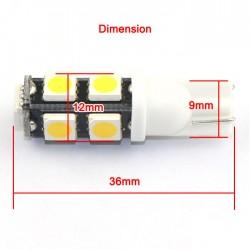 2 PCS Ultra Bright LED Light T10 LED Bulb 5050 SMD 9 LED White/Blue/Warm White/Red Wedge Light Lamp for Brake light/Tail light etc