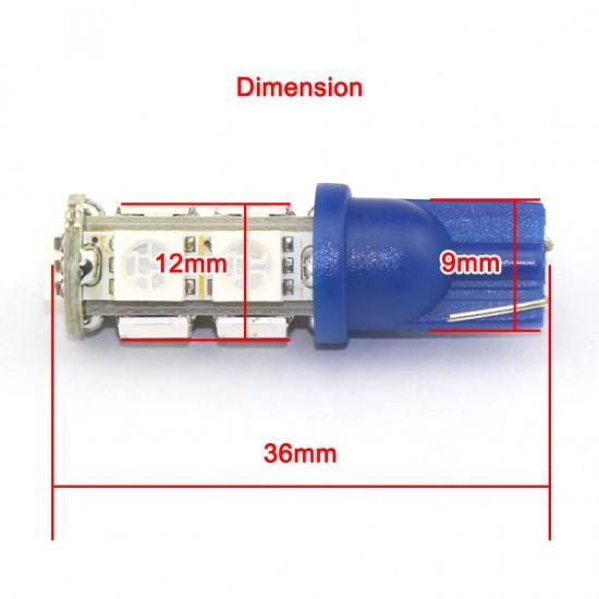 2 PCS DC 12V Car Light T10 5050 SMD White/Blue/Warm White/Red 9 LED Wedge Light Lamp for Reading Lights/Door Lights etc