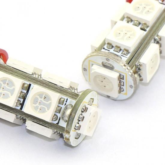 2 PCS T10 Energy saving Light 5050 SMD 9 LED White/Blue/Warm White/Red Wedge Light Lamp for Reading Lights/Door Lights