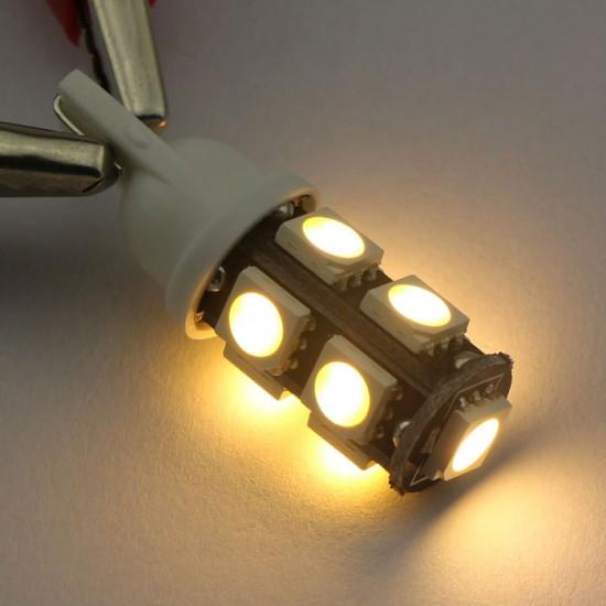 2 PCS Ultra Bright LED Light T10 LED Bulb 5050 SMD 9 LED White/Blue/Warm White/Red Wedge Light Lamp for Reading Lights/Tail light
