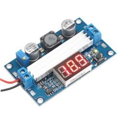 100W Power Supply Module DC 3~35V to 3.5~35V 6A Adjustable Voltage Regulator DC 12V 24V Adapter/Driver Module with Voltmeter