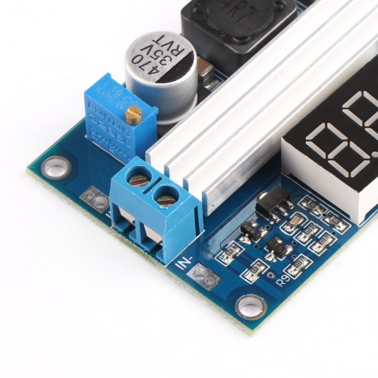 100W Power Supply Module DC 3~35V to 3.5~35V 6A Adjustable Voltage Regulator DC 12V 24V Adapter/Driver Module with Voltmeter