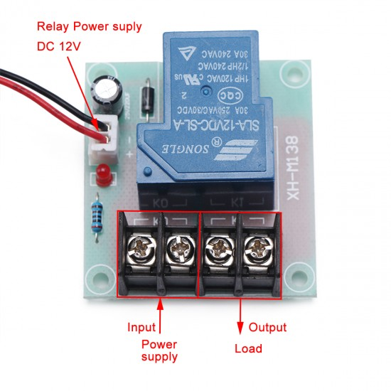 30A Power Switch Circuit Single Electric Relays 12V DC Current Control Module