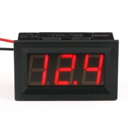 DC Red/Blue/Yellow/Green LED Digital Monitor Meter Digital Voltage Meter Car Voltmeter Gauges 2.5V-30V 12V DC Volt Meter