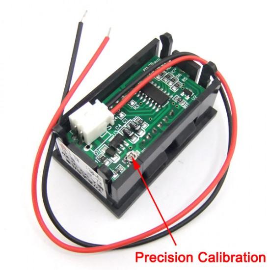 DC Red/Blue/Yellow/Green LED Digital Monitor Meter Digital Voltage Meter Car Voltmeter Gauges 2.5V-30V 12V DC Volt Meter