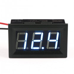 Mini Digital Panel Voltmeter DC 2.5V to 30V Red/Blue/Green LED Voltage Meter Car Motorcycle Battery Power Monitor
