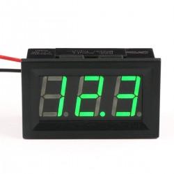 DC Volt Meter 2.5-30V Green LED Motorcycle Car Digital Voltmeter 12/ 24V Two-wire