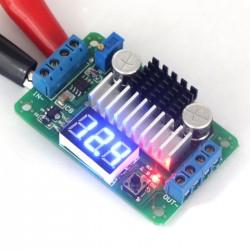 DC Boost Voltage Regulator DC 3.5V-30V to 3.5V-30V 6A 100W LTC1871 Adjustable Converter with Blue LED Voltmeter