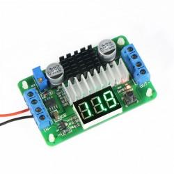 Power Adapter DC 3.5V-30V to 3.5V-30V 6A 100W Adjustable Boost Converter with Green LED Voltmeter