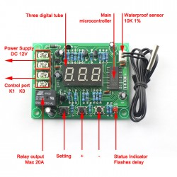 -50-110 °c Digital Home Heating Cooling Thermostat Temperature Controller+Sensor