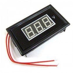 AC 60V to 500V Red/Blue/Green LED Voltmeter AC Digital Voltage Monitor Meter for home factory garden and DIY ect
