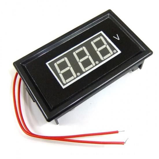 AC 60V to 500V Red/Blue/Green LED Voltmeter AC Digital Voltage Monitor Meter for home factory garden and DIY ect