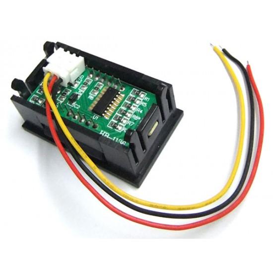 DC 0-99.9V Red/Blue/Green LED Voltage Panel Meter 0.56