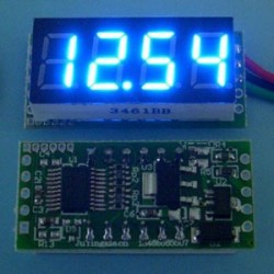 Mini DC DC 0-30.00V Digital Voltage Monitor Meter Red/Blue/Green LED Voltage Panel Meter
