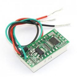 Mini DC DC 0-30.00V Digital Voltage Monitor Meter Red/Blue/Green LED Voltage Panel Meter