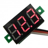 Digital Voltmeter, DC  Voltage Monitor Meter 0-100V Panel Module with Mounting Ear