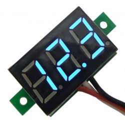 Mini DC 0-99.9V Digital Voltmeter Panel Meter LED Red/Blue/Green Voltage Monitor for Scooter Car E-bike and DIY etc.