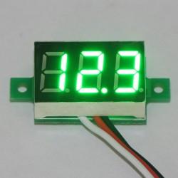 0.36' DC 0-99.9V Digital Voltmeter Panel Meter LED Red/Blue/Green Voltage Monitor for Scooter Car E-bike and DIY etc.