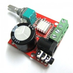 Mini Digital Audio Amplifier Module 10W+10W 2 Channel Amplifier Class D DC 12V