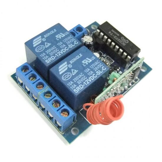 DC 12V Wireless Remote Controller DC 12V 2 Channel Remote Control Self Lock Switch Board