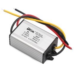 12W Voltage Regulator DC 9~60V to 4.2V 3A Buck Power Supply Module/Car Converter/Power Adapter/Driver Module Waterproof