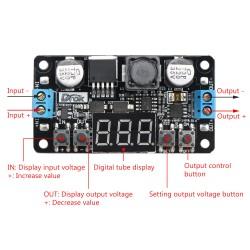 30W Adapter/Power Supply Module DC 5~32V to 0~30V 1.5A Adjustable Voltage Regulator /Adapter/Driver Module CNC Power Converter + Voltmeter
