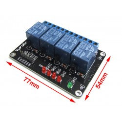 5V 4 Relay Module Extension MCU Development Board Module for 51 AVR ARM PIC