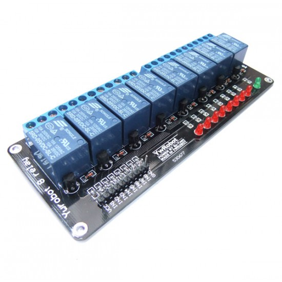 DC 5V Relay Module 8 Channel Relay Extension MCU Development Board for 51 AVR ARM PIC and DIY ect