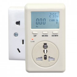 UK Socket 230V Version Power Analyzer KWH Watt Energy Meter 160-280V AC Voltage Test