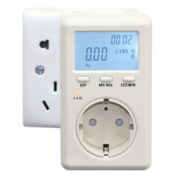 Metering socket Multifunction EURO Version Power Analyzer KWH Watt LCD Socket Energy Meter 230V