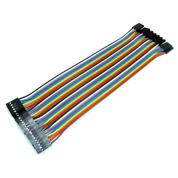 Mini Colorful Cable 2.54mm Pin Header Connector 40 PIN in 1 Row Dupont Wires Cable 4P 20cm