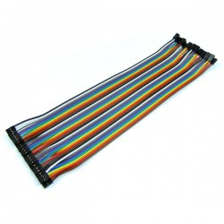 Colorful Connection Lines 2.54mm to 2.54mm 40pcs in 1 Row Dupont Wire Cable 2P to 2P Pin Header 20cm