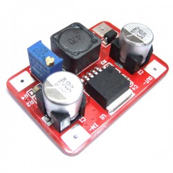LM2577 High Power DC-DC 3.5-30V to 4-30V Stepup Power Converter Module With Indicator