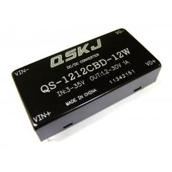 12W Auto Buck Boost Converter DC 3~35V to 1.25~30V Adjustable Voltage Regulator DC 12V 24V Power Supply Module/Adapter/Driver Module