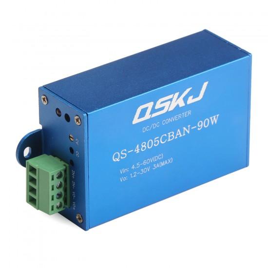 90W Power Supply Module DC 4.5~60V to 1.25~30V 3A Buck Converter/Adjustable Voltage Regulator Driver Module DC 12V 24V Power Adapter