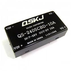 DC Buck Converter/Adapter DC 7~28V to 5V 10A Step-Down Voltage Regulator DC 5V Power Supply Module/Driver Module/Car Power Supply