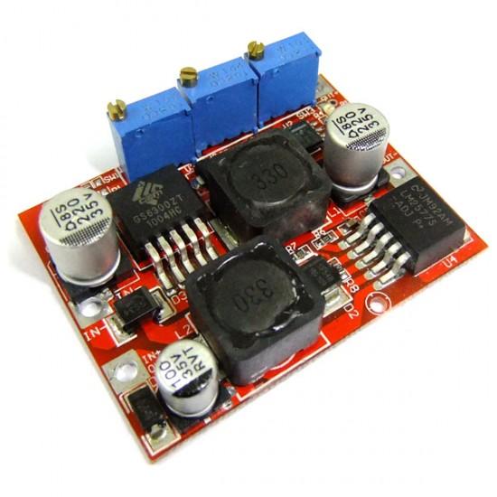 15W Power Supply Module DC 4~35V to 1.25~25V Auto Buck Boost Converter/Voltage Regulator DC 12V 24V Adapter/Charging Module