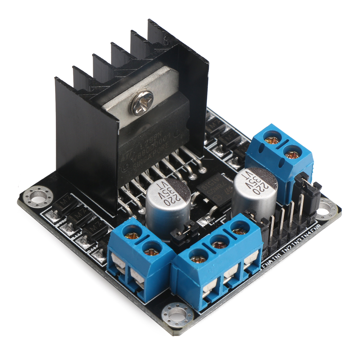 L298n Dual H Bridge Motor Driver Module Dc 5v35v 2a 25w Power Diagram Together With L298 Circuit Pin On Supply