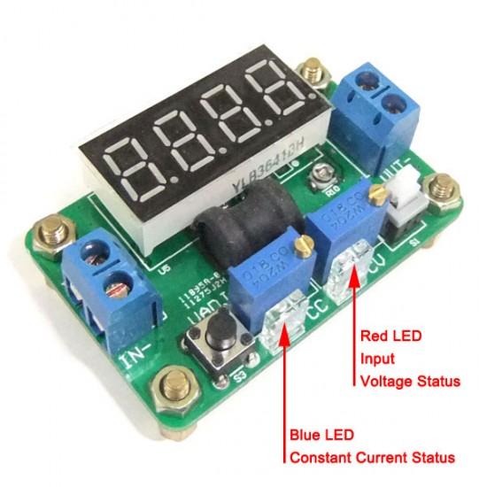 20W Buck Adjustable Voltage Regulator DC 4.5~24V to 0.93V~20V Power Supply Module DC 5V 12V Step Down Converter/Adapter/Driver