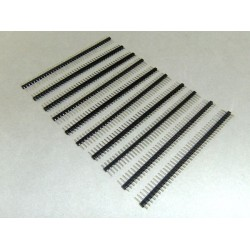10 PCS 2.54mm 40 Pin Male Single Row Pin Header Connector Strip