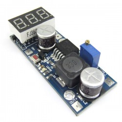 LM2587 DC Adjustable Step Up Converters Red LED Voltmeter Mini Voltage Regulated Module