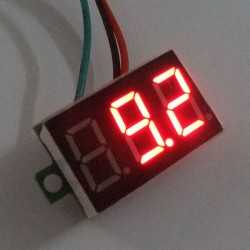 Digital Meter/Voltmeter DC 0~100V Voltage Meter Red/Blue/Green/Yellow Led display Volt Meter DC 12V 24V Panel Meter/Monitor/Tester