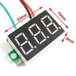 DC 12V 24V Panel Meter/Voltmeter DC 0~100V Voltage Meter Red/Blue/Green/Yellow Led display Volt Meter/Digital Meter/Monitor/Tester