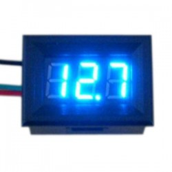 Digital Voltmeter/Panel Meter DC 0~100V Voltage Meter Red/Blue/Green/Yellow Led display Volt Meter DC 12V 24V Digital Meter/Monitor/Tester