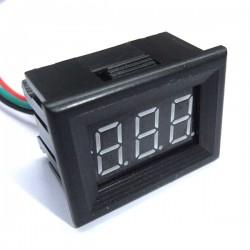 Digital Voltmeter/Panel Meter DC 0~100V Voltage Meter Red/Blue/Green/Yellow Led display Volt Meter DC 12V 24V Digital Meter/Monitor/Tester