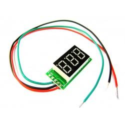Digital Meter/Voltmeter DC 0~100V Voltage Meter Red/Yellow/Blue/Green Led display Volt Meter DC 12V 24V Panel Meter/Monitor/Tester