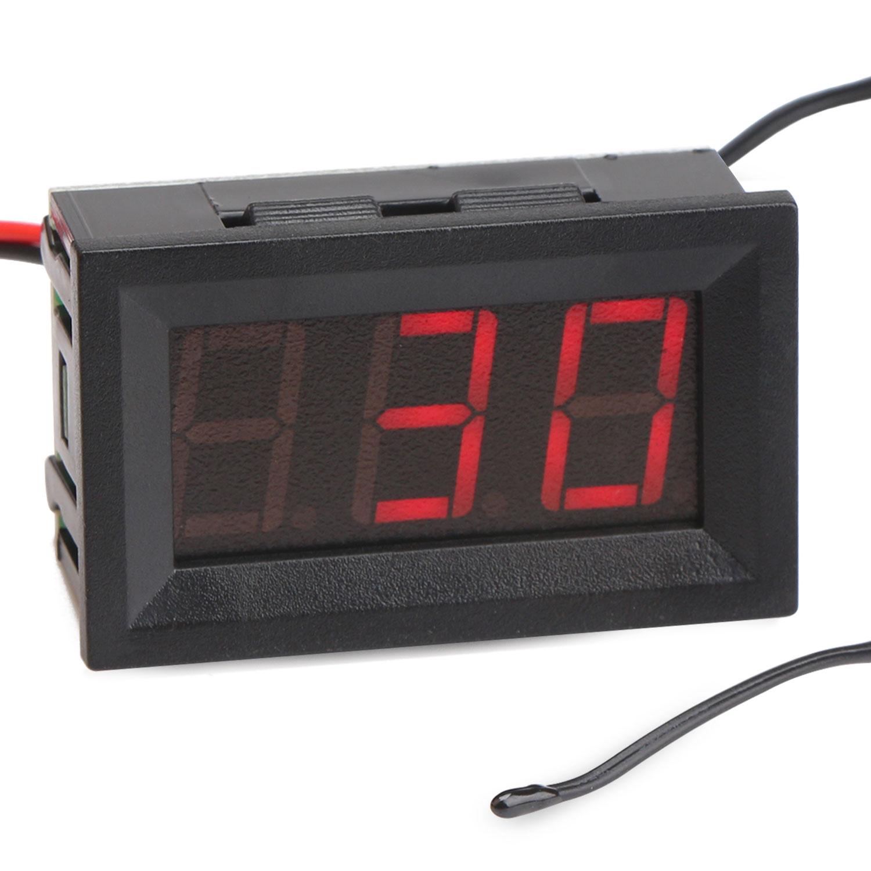 Digital Meter  Blue  Green Led Temperature Meter Dc 12v