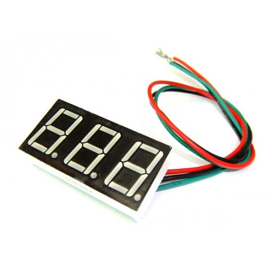 Slim DC Voltage Monitor Meter DC 0V to 100V Red/Blue/Yellow/Green Digital Voltmeter Panel Meter  For Car Moto And DIY Etc