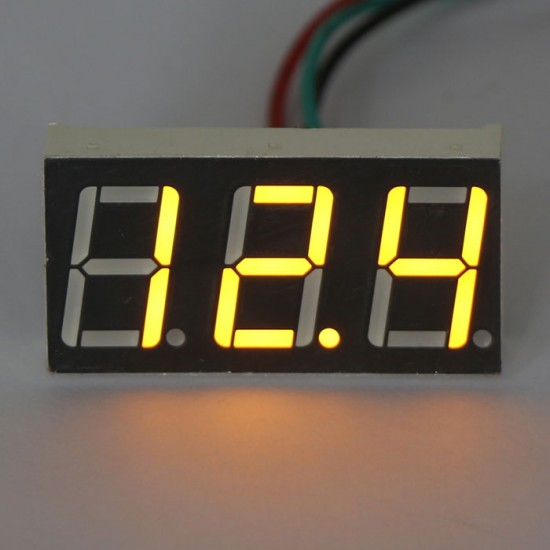 DC 0-100V Red/Blue/Yellow/Green LED Digital Voltage Panel Meter Board DC Voltage Monitor Meter For Car Moto And DIY Etc